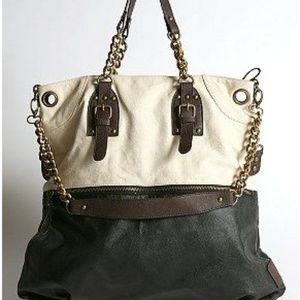 BDG Black and White Chained Tote Bag Unused